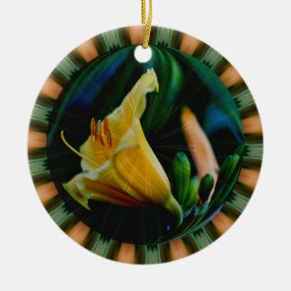 Macro Lily Flower Art Ornament