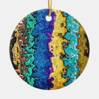 Macro Molecules of Color Round Ceramic Decoration