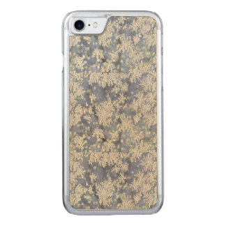 Macro Nature Photo of Frost on Blue Metal Carved iPhone 8/7 Case