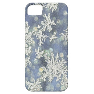 Macro Nature Photo of Frost on Blue Metal Case For The iPhone 5