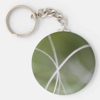 Macro of A Green Palm Tree Leaf Key Chains