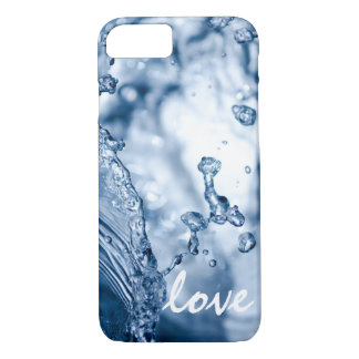 Macro Photo Water Modern Elegant Blue Personalized iPhone 7 Case