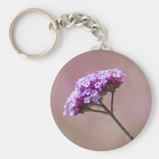Macro Purple and Pink Flowers Keychains