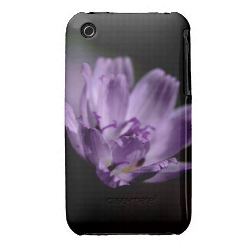 Macro Purple Wildflower iPhone 3 Cover