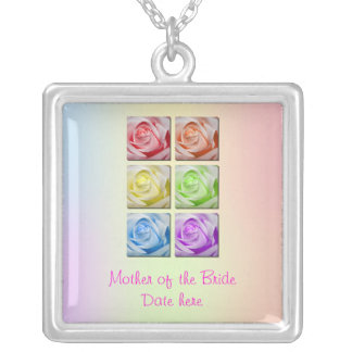 Macro Rainbow Roses Mother of the Brides Necklace