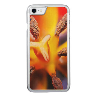 Macro Red and Yellow Tulip Photo Carved iPhone 7 Case