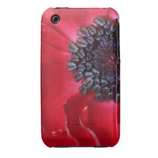 Macro Red Anemone Case-Mate iPhone 3 Case