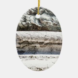 Macro Rock Ceramic Oval Decoration