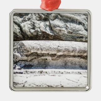 Macro Rock Silver-Colored Square Decoration