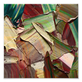 Macro shot of Oil Paint Photo