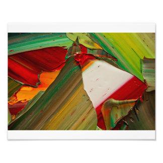 Macro shot of Oil Paint Photographic Print