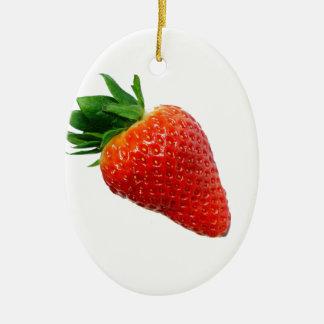 Macro Strawberry Christmas Tree Ornament