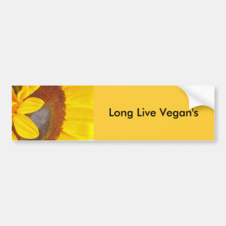 Macro Sunflower Bumper Sticker