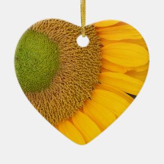 Macro Sunflower Center Flower Ornament