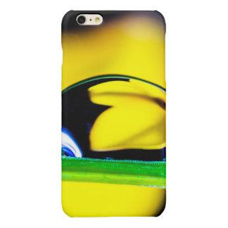 Macro Water Drop Yellow Flower Photo iPhone 6 Plus Case
