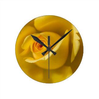 Macro Yellow Rose Clocks
