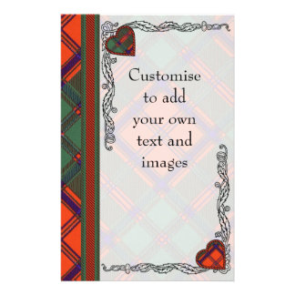MacRob clan Plaid Scottish kilt tartan 14 Cm X 21.5 Cm Flyer