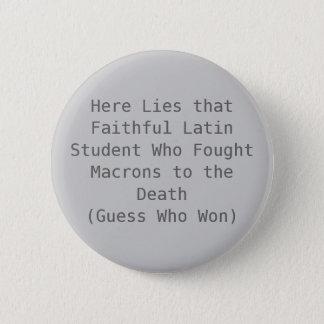 Macron Death 6 Cm Round Badge