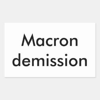 Macron resignation rectangular sticker