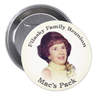 Mac's Pack Creme with Black Letters Pins