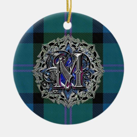 MacThomas Clan Plaid Monogram ornament