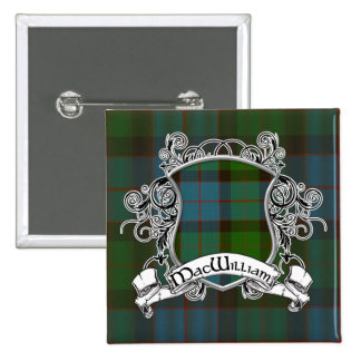 MacWilliam Tartan Shield 15 Cm Square Badge