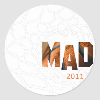 Mad 2011 - Basketball Round Sticker