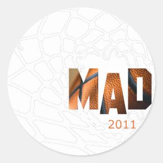Mad 2011 - Basketball Round Sticker