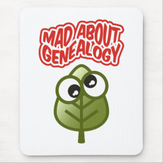 Mad About Genealogy Mouse Pad