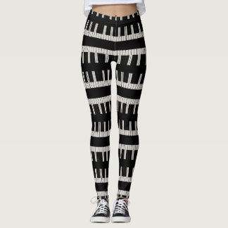 Mad About Music Keyboard Pianist Leggings