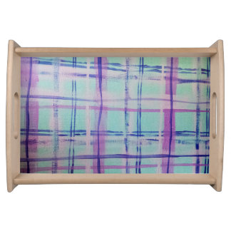 Mad About Plaid Aqua/Pink Serving Tray