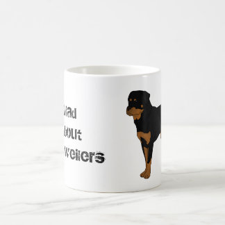 Mad About Rottweilers Mug (natural tail)