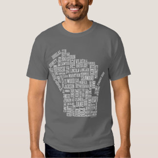 Mad About Wisconsin (Grey) T-shirts