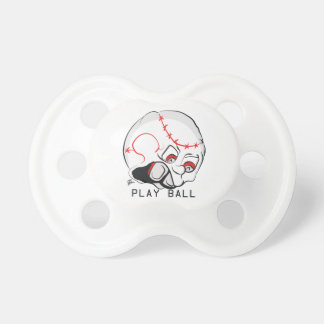 Mad Baseball Face Baby Pacifiers