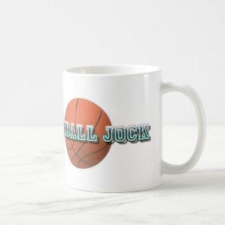 Mad Basketball Jock With Ball Basic White Mug