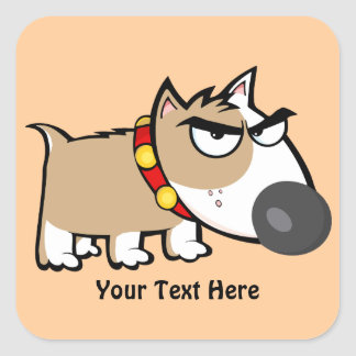 Mad Brown Dog (customizable) Stickers