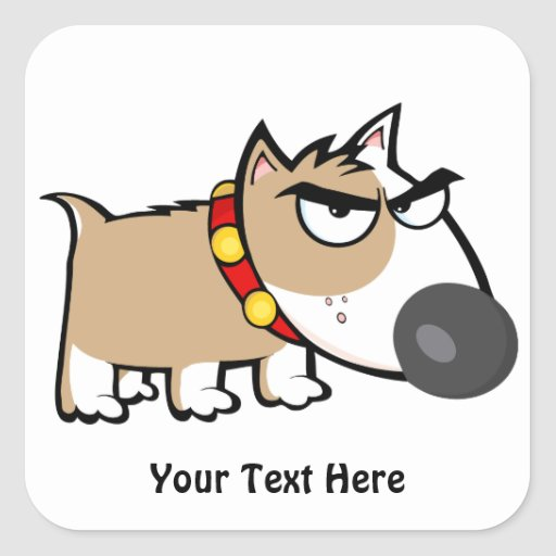 Mad Brown Dog (customizable) Sticker