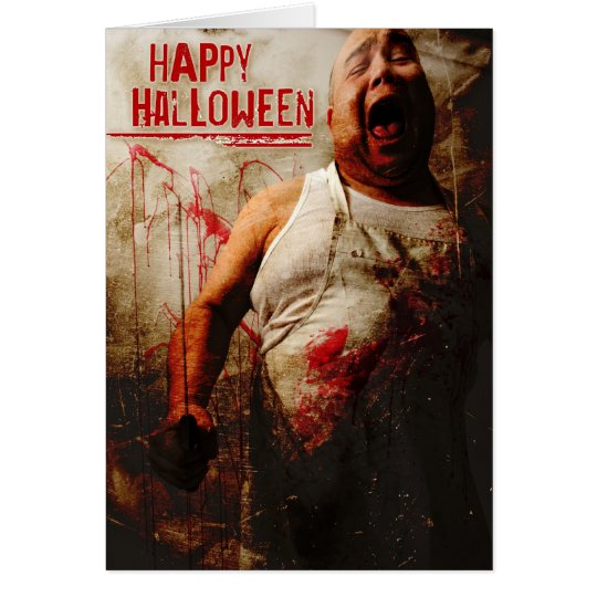 mad butcher halloween card