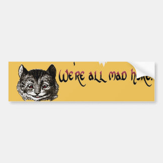 Mad Cat Bumper Sticker