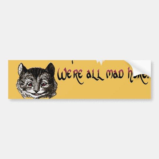 Mad Cat Bumper Sticker