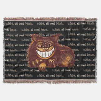 Mad Cat by Aleta Throw Blanket