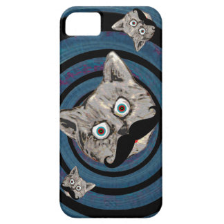 mad cat in a spiral barely there iPhone 5 case