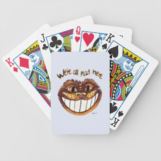 Mad Cat Smile by Aleta Bicycle Playing Cards