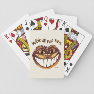 Mad Cat Smile by Aleta Playing Cards