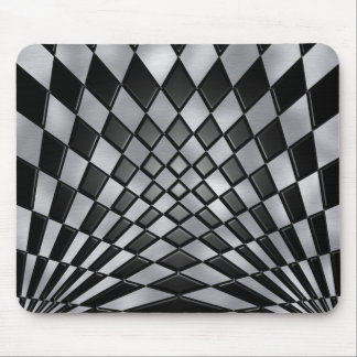 Mad Checkerboard Mouse Pad