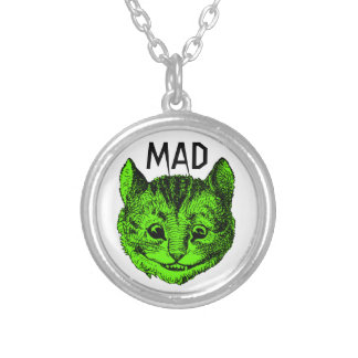 Mad Cheshire Cat Necklace (Gory Green)