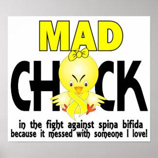 Mad Chick 1 Spina Bifida Print