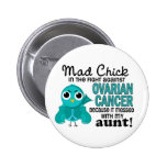 Mad Chick 2 Aunt Ovarian Cancer 6 Cm Round Badge