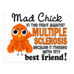 Mad Chick 2 Best Friend Multiple Sclerosis MS Post Cards