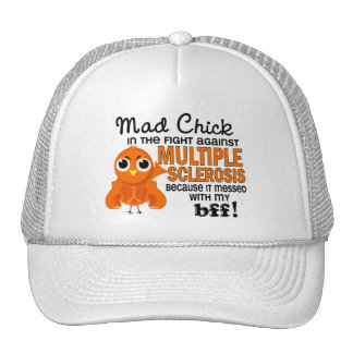 Mad Chick 2 BFF Multiple Sclerosis MS Mesh Hat